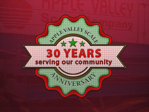 Apple Valley Scale Company Celebrating 30 Years in Business!